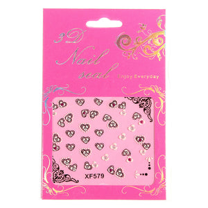 Flower Lace Butterfly Wrap Decal Nail Art Stickers