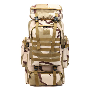 80L Molle Tactical Bag Outdoor Traveling Camping Hiking Military Rucksacks Backpack Camouflage Bag