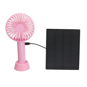 2.5W Solar Panel Portable Charging Fan Rechargable Fan 3 Speed Traveling Colling System Kit