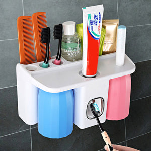 Toothbrush Toothpaste Tumbler Holder Bathroom Accessory