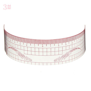 Reusable Eyebrow Grooming Stencil Measure Ruler Brow Shaper Makeup Shaping Tool