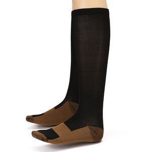 2pcs Unisex Copper Infused Varicose Veins Compression Stock Socks Anti Fatigue