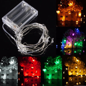 2M 20 LED Battery Powered Snowman String Fairy Light For Christmas Party Weddinng Decor