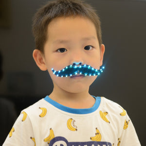 LED Fake Beard Glow Carnival Toys Halloween Christmas Gifts Cosplay Mustache