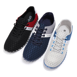 Men's Casual Sports Shoes Running Sneakers Breathable Ultralight Fitness Shoes Soft Wearable