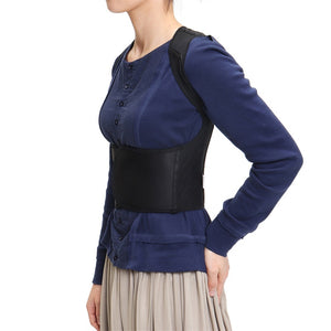 Plus Size Adjustable Posture Corrector Lumbar Support Brace