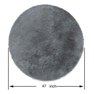Round Fluffy Rugs Anti-Skid Shaggy Area Floor Yoga Mats