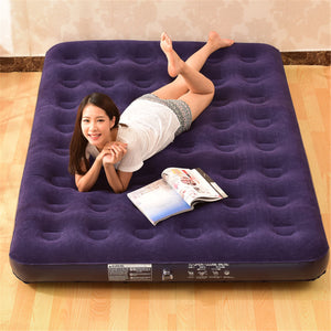 Inflatable Travel Car Lazy Air Bed Sleeping Mattress Couch Sofa Camping Seat Pump Mat