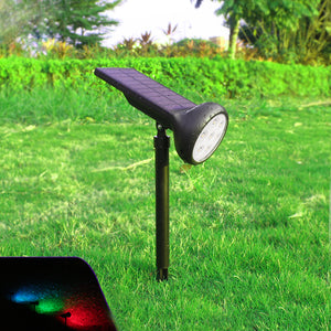 7 LED Solar Spotlight Landscape Lamp Waterproof Camping Light Outdoor Emergency Lantern