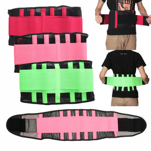 Breathable Lumbar Lower Back Support Brace Sport Waist Trainer Belt Body