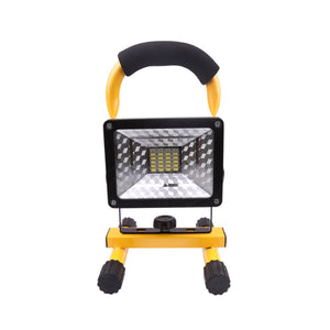 30W 24LED Portable Rechargeable Flood Light Waterproof Spot Work Latern Outdoor Camping Lawn Lamp