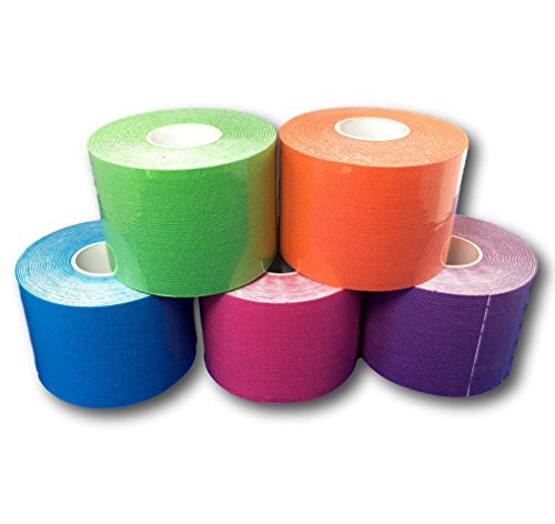 Kinesiologie Tape 5cm - 5er Set Farbmix-HEALTH_PERSONAL_CARE-EKNA GmbH & Co. KG