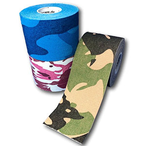 Kinesiologie Tape 5cm - 3er Set Camouflage Mix-HEALTH_PERSONAL_CARE-EKNA GmbH & Co. KG