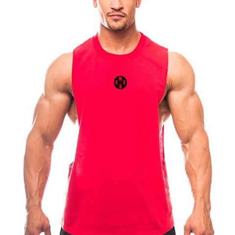 2583bcb4d9e0 ... Muscleguys Mens Casual Loose Fitness Tank Tops For Male Summer Open  side Sleeveless Active Muscle Shirts ...