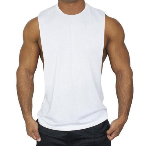 6de54fec Muscleguys Mens Casual Loose Fitness Tank Tops For Male Summer Open side  Sleeveless Active Muscle Shirts