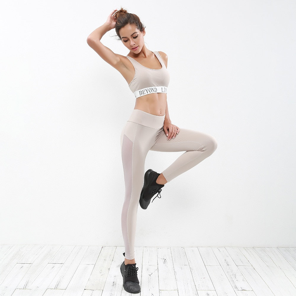 27eee6d272861 Women s 2 pieces active workout sets yoga fitness bra and running legg –  Sportsdaddi
