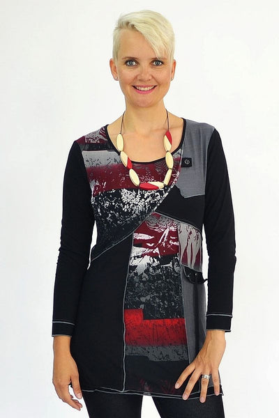 Polly's Red Tunic - at I Love Tunics @ www.ilovetunics.com = Number One! Tunics Destination