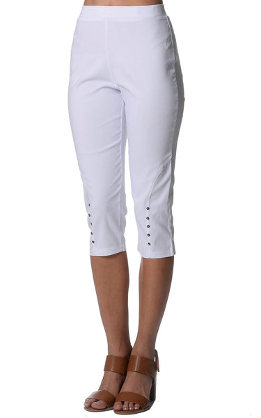 White Button Bengaline Pants