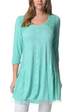 Annie's Aqua Tunic Top | I Love Tunics | Tunic Tops | Tunic Dresses | Women's Tops | Plus Size Australia | Mature Fashion