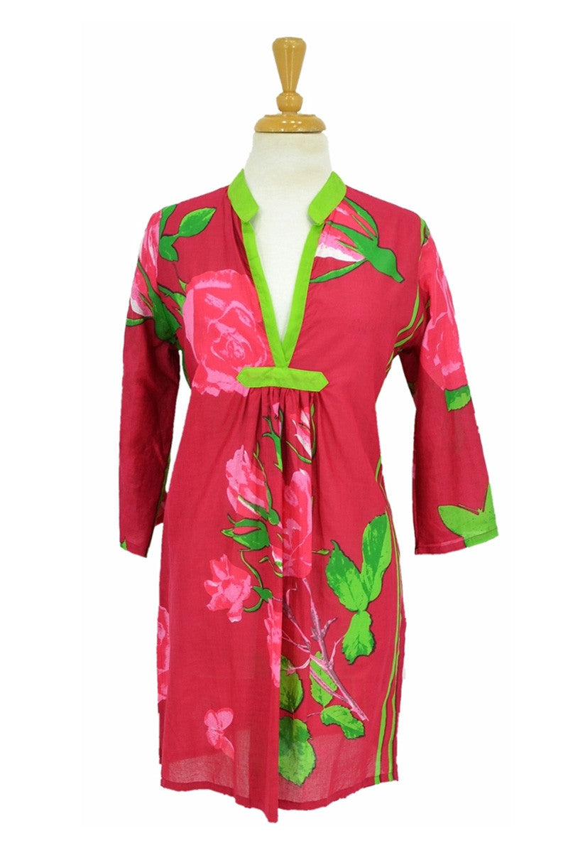 Rose Floral Tunic - at I Love Tunics @ www.ilovetunics.com = Number One! Tunics Destination