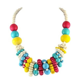 Multicoloured Spiral Necklace