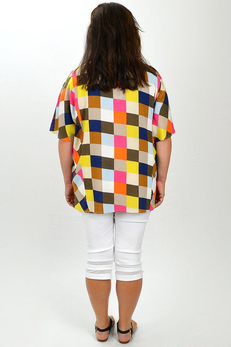 Multicolour Check Tunic | I Love Tunics | Tunic Tops | Tunic | Tunic Dresses  | womens clothing online