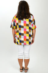 Multicolour Check Tunic | I Love Tunics | Tunic Tops | Tunic Dresses | Women's Tops | Plus Size Australia | Mature Fashion