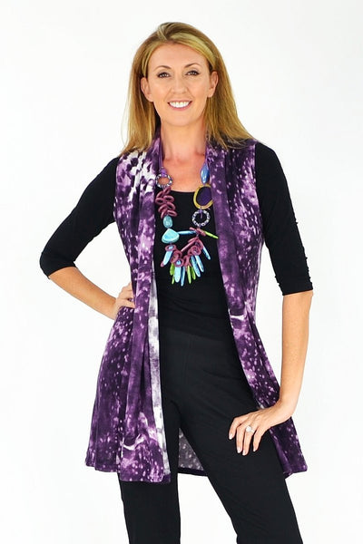 Poppies Purple Vest