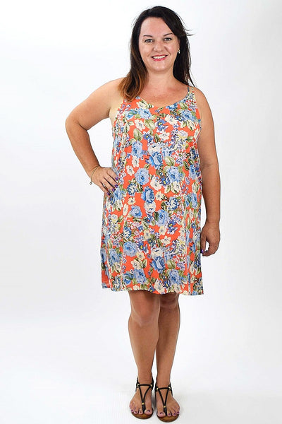 Blue Flower Tunic | I Love Tunics | Tunic Tops | Tunic Dresses | Women's Tops | Plus Size Australia | Mature Fashion