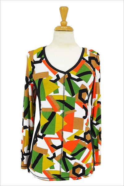 Multicolour Shapes Pattern Tunic