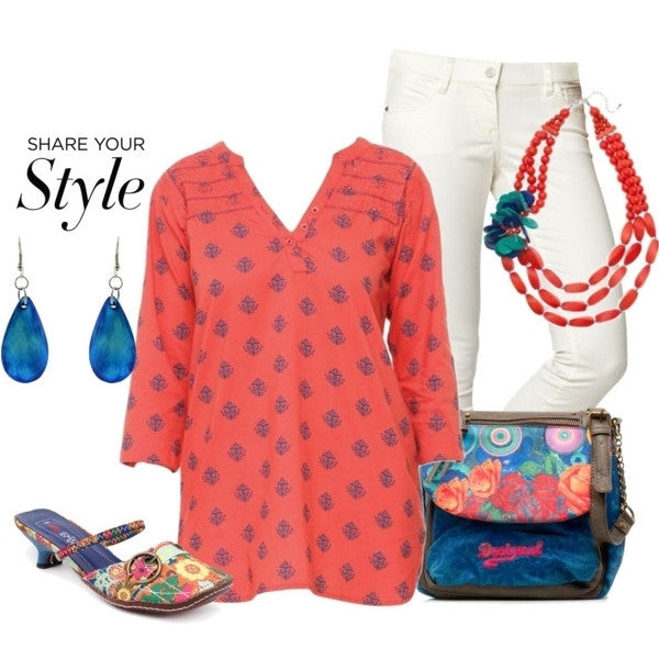 Coral Anchor Tunic - at I Love Tunics @ www.ilovetunics.com = Number One! Tunics Destination