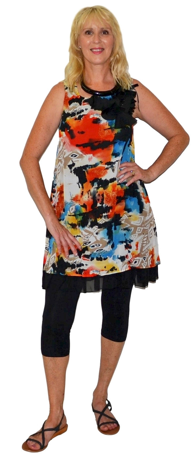 Pollys Flower Tunic - at I Love Tunics @ www.ilovetunics.com = Number One! Tunics Destination