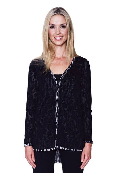 Reversible Animal Mesh Cardigan - I Love Tunics @ www.ilovetunics.com