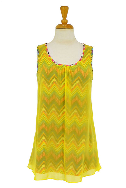 Yellow Zigzag Tunic