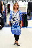 Blue Garden Tunic - at I Love Tunics @ www.ilovetunics.com = Number One! Tunics Destination