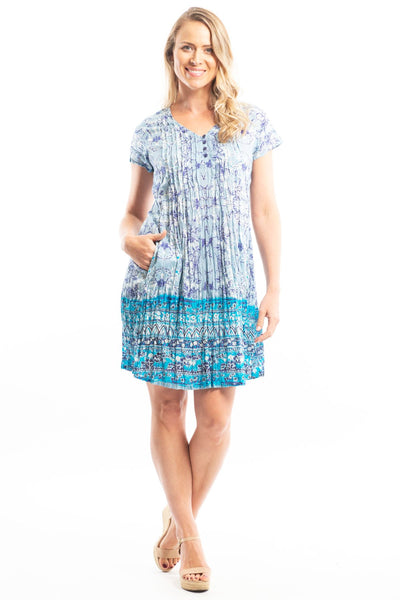 Crinkle Ocean Wave Tunic Dress