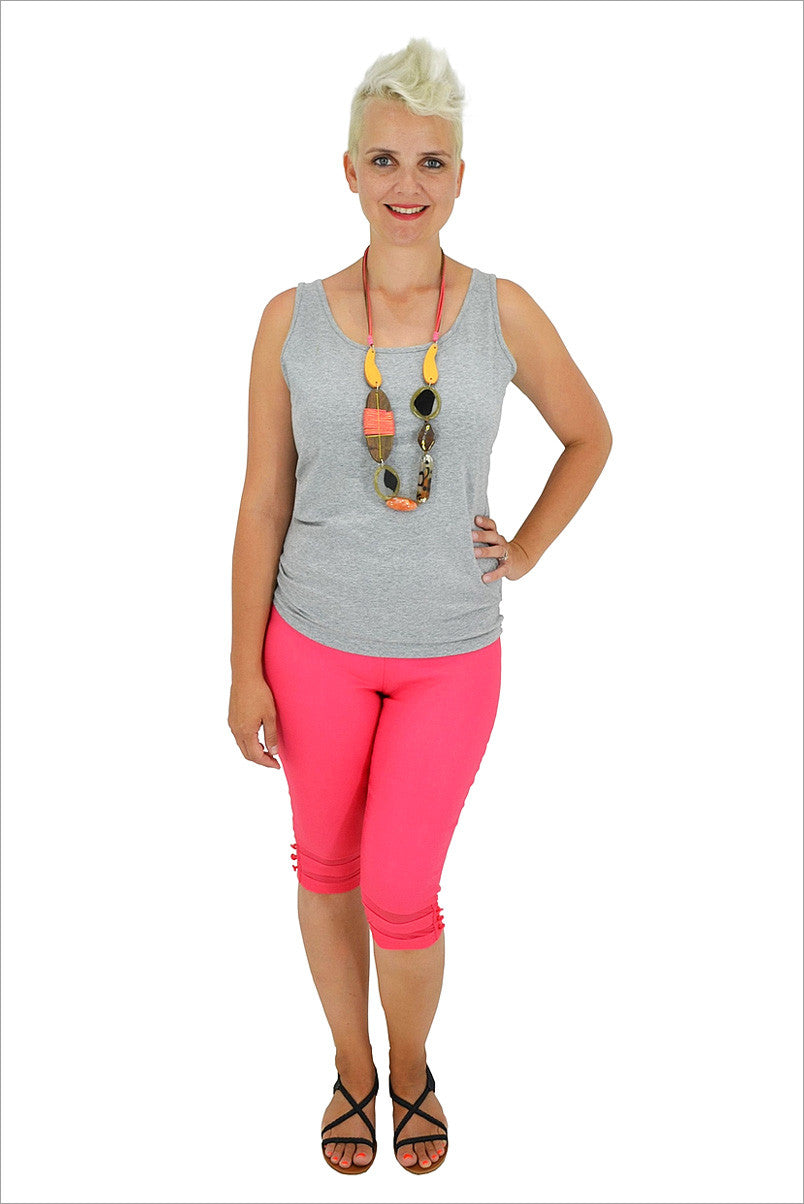 Coral Below Knee Pants - at I Love Tunics @ www.ilovetunics.com = Number One! Tunics Destination