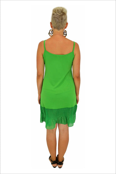 Green Frill Sleeveless Slip | I Love Tunics | Tunic Tops | Tunic | Tunic Dresses  | womens clothing online