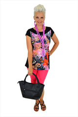 Pink Butterfly Rose Tunic - at I Love Tunics @ www.ilovetunics.com = Number One! Tunics Destination