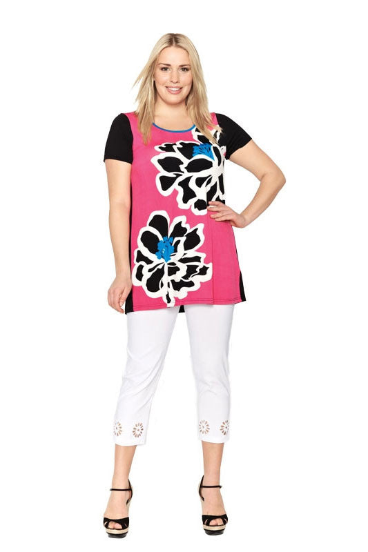 Big Flower Tunic - at I Love Tunics @ www.ilovetunics.com = Number One! Tunics Destination