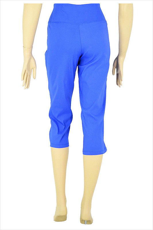 Wedgewood Blue 3/4 pants | I Love Tunics | Tunic Tops | Tunic | Tunic Dresses  | womens clothing online