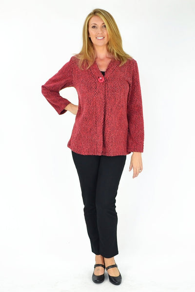 Red Ava Jacket - at I Love Tunics @ www.ilovetunics.com = Number One! Tunics Destination