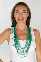 Emerald Green Crochet Necklace | I Love Tunics | Tunic Tops | Tunic | Tunic Dresses  | womens clothing online