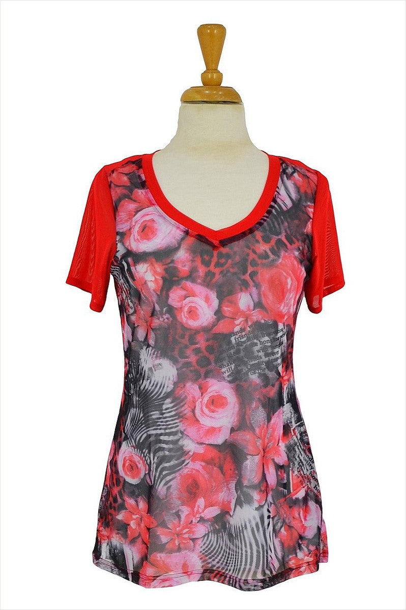 Red Friends Forever Tunic - at I Love Tunics @ www.ilovetunics.com = Number One! Tunics Destination
