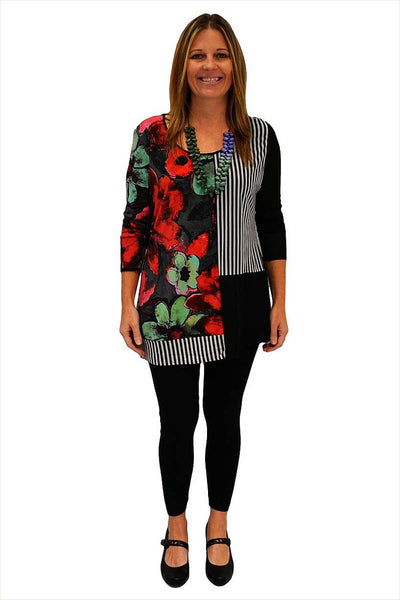 Red Green Flower Tunic - at I Love Tunics @ www.ilovetunics.com = Number One! Tunics Destination