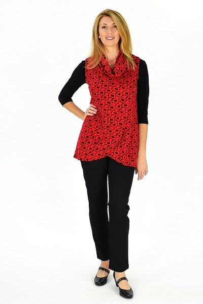 Red Mia Tunic