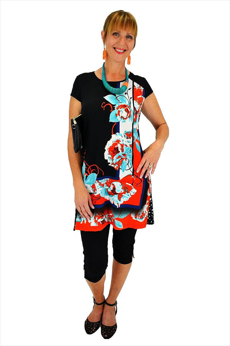 Spotty Flower Tunic - at I Love Tunics @ www.ilovetunics.com = Number One! Tunics Destination