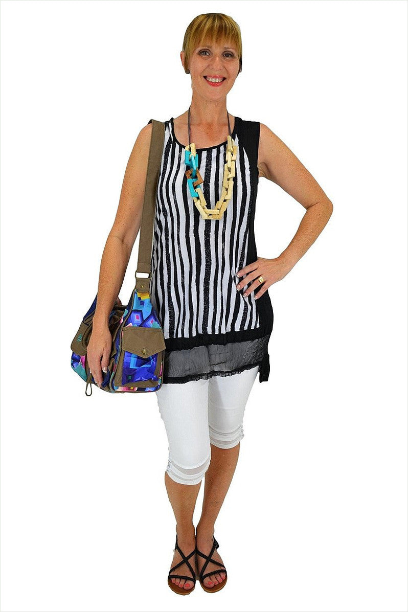 Stripe Tunic - at I Love Tunics @ www.ilovetunics.com = Number One! Tunics Destination