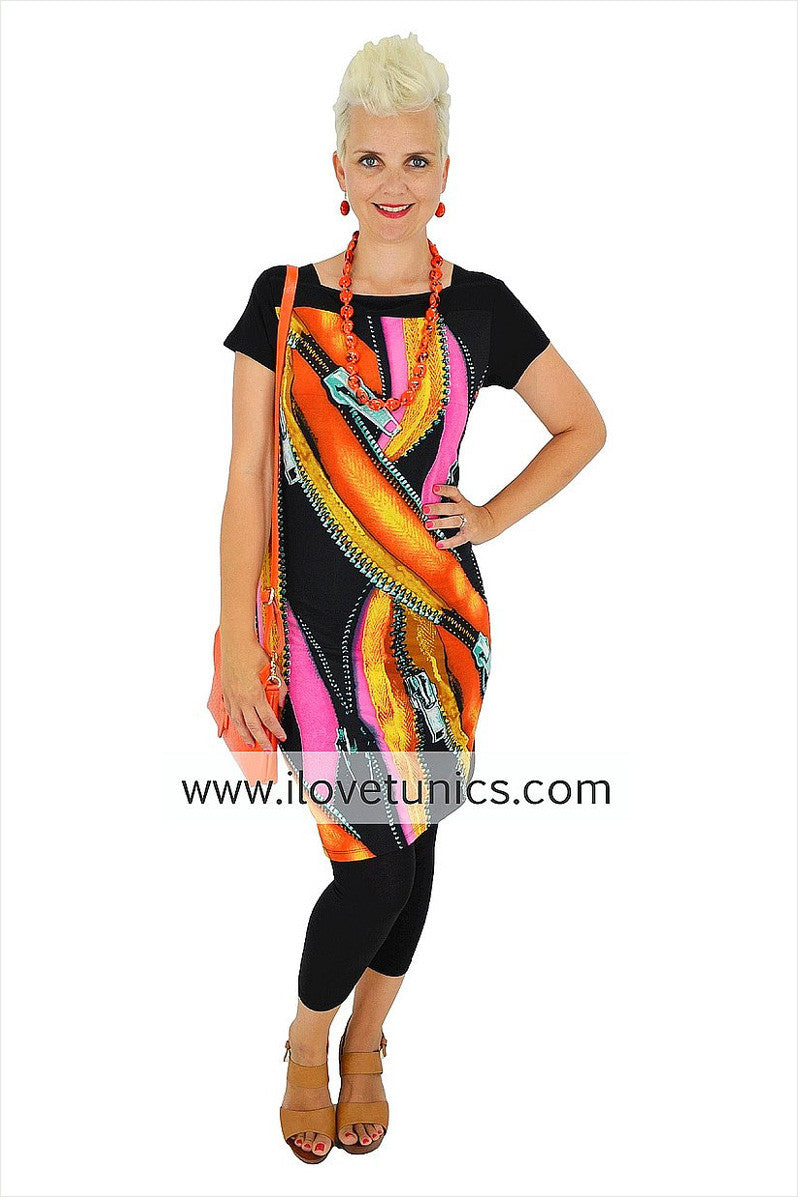 Zip Tunic - at I Love Tunics @ www.ilovetunics.com = Number One! Tunics Destination