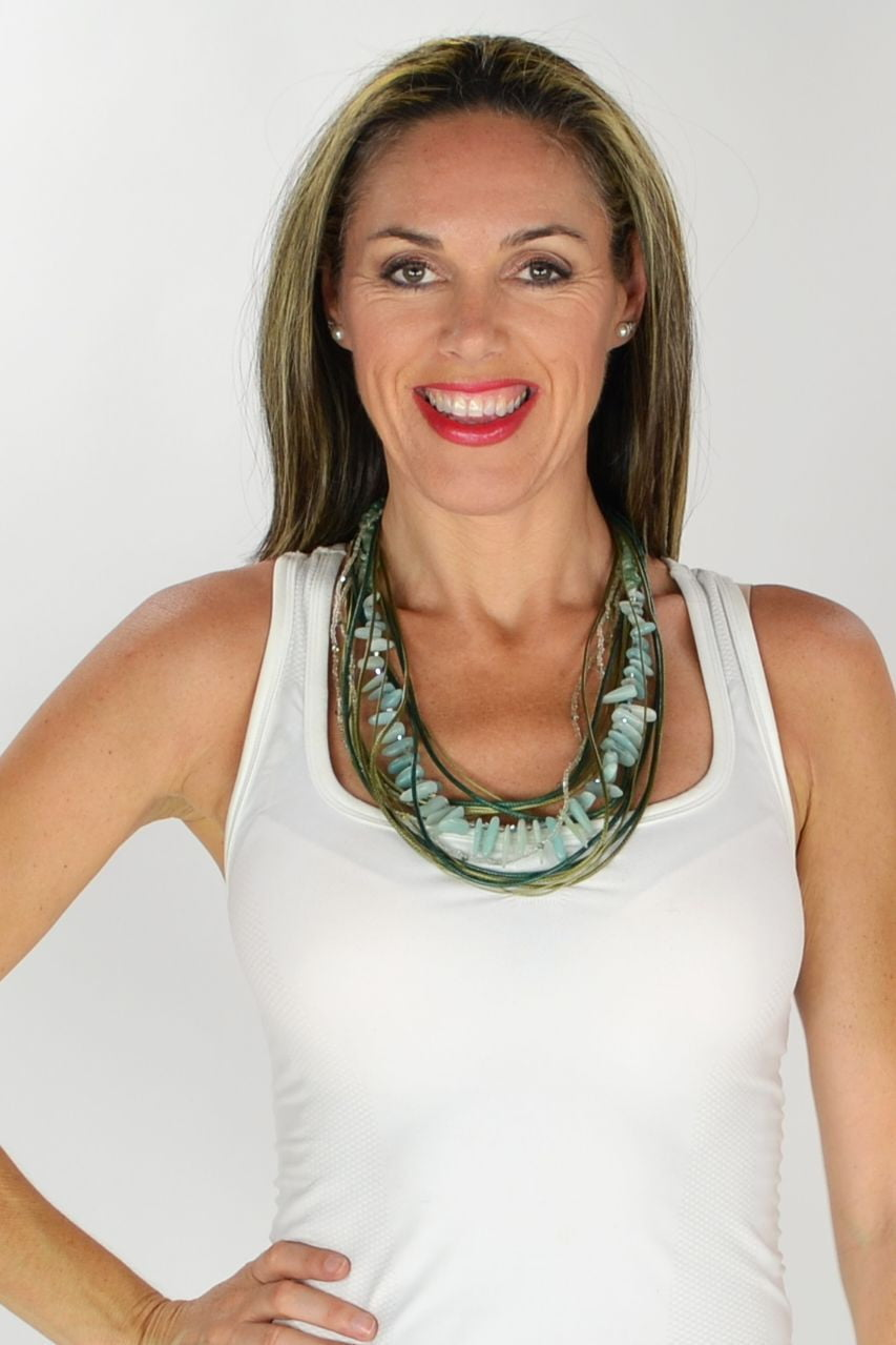Sage Stones Necklace | I Love Tunics | Tunic Tops | Tunic | Tunic Dresses  | womens clothing online